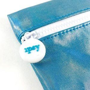 Ipsy Glossy Teal Blue Make Up Bag